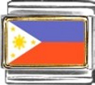 Philippines Photo Flag Italian Charm Bracelet Jewelry - Photo Italian 9mm Charm New