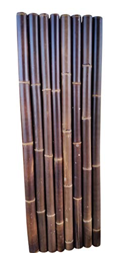Master Garden Products BBF-968 Black Timber Bamboo Rolled Fence, 2'L x 6'H