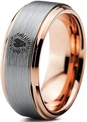 Zealot Jewelry Tungsten Lion Lioness Panthera Leo Band Ring 8mm
