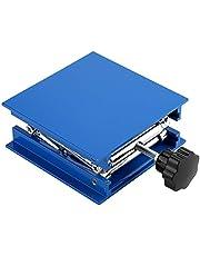 Plataforma Elevadora - BiuZi 100 X 100 Mm Azul De Laboratorio De Aluminio Galvanizado Plataforma Elevadora Soporte Rack Tijera Jack Levantador