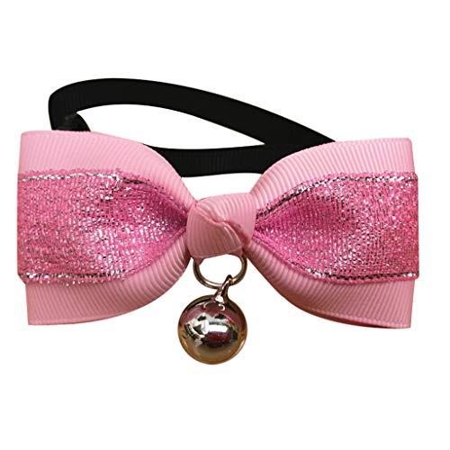WFeieig Fashion Pet Dog Cat Bowtie Bow Tie Dazzling Dog Necktie Pet Decoration Collar Cute Pet Photography Novel Prop -