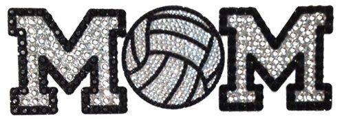 Crystal Heiress Rhinestone Sticker, Volleyball Mom, 7.75 by 2.5-Inch, (Volleyball Mom Rhinestone)