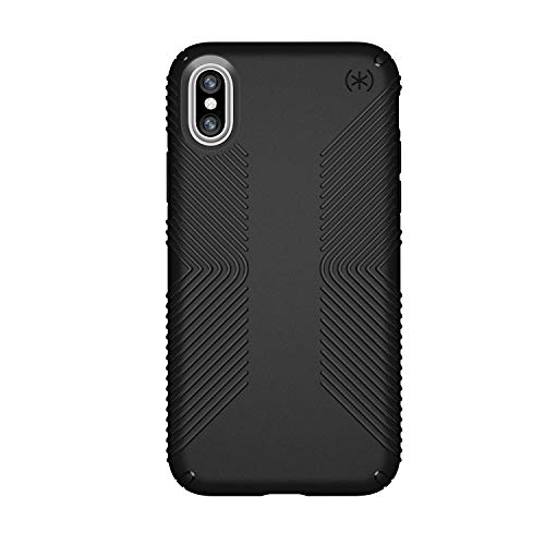 Speck Products iPhone X Case, Presidio Grip, Black/Black from Speck