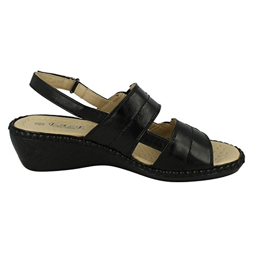 Ladies Eaze Velcro Casual Sandals Black UBTDVvdg