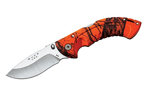 Folding Hunter Lockback Knife - Buck 395 Omni Hunter 10 PT Folding Hunting Knife (Oak Blaze Camo)