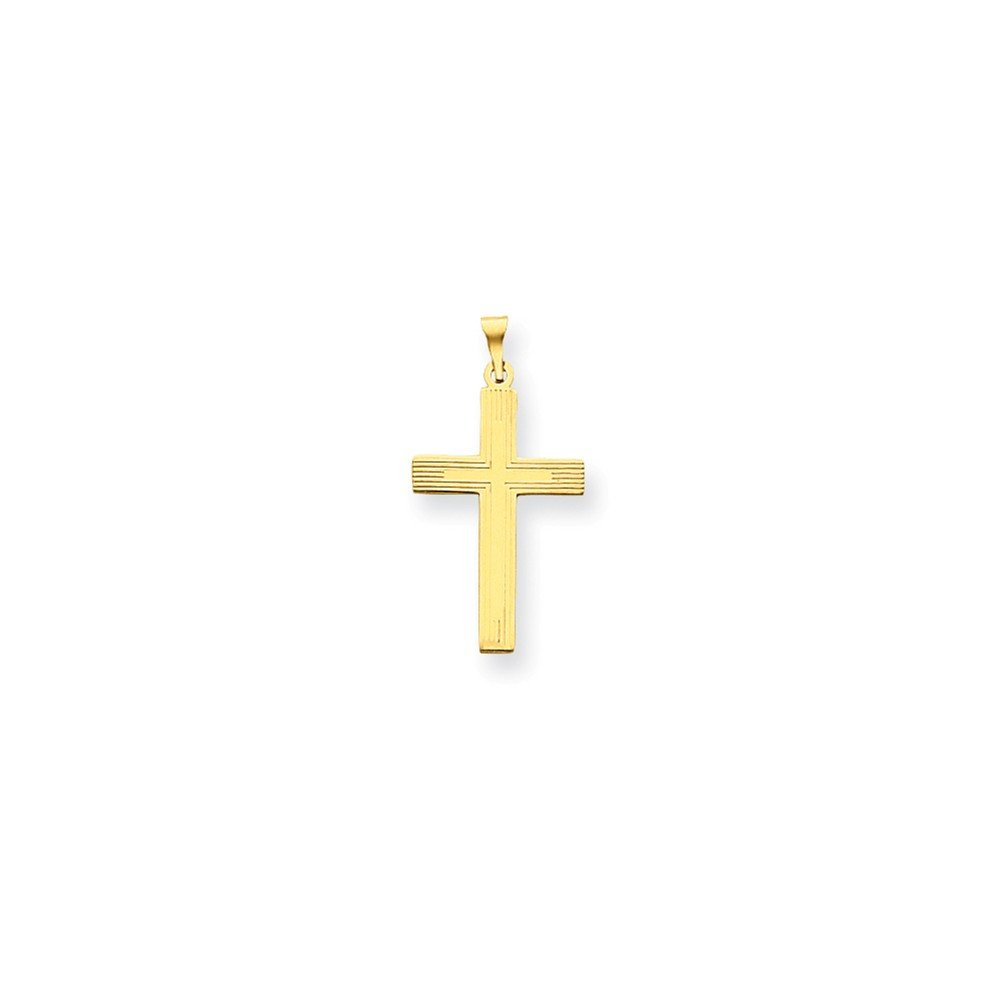14k Yellow Gold Polished Cross Charm 0.54g 28x15mm