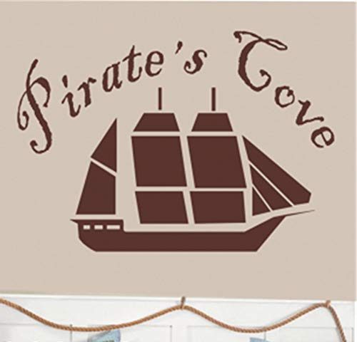 (Vinyl Wall Art Inspirational Quotes and Saying Home Decor Decal Sticker Pirate's Cove for Nursery Kid Bedroom)
