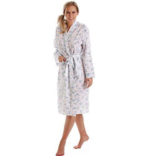 b14f206f884 Lady Olga Ladies Dressing Gown Womens Floral Winter Warm Nightwear Bathrobe  Plus Size 10 12