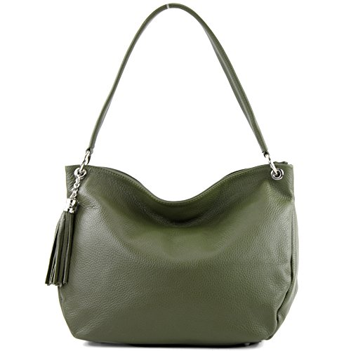 T154 Ital Genuine Leather De Modamoda Bag Olive Shoulder Case 0Aw6x5qS
