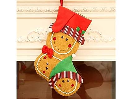 Estilo navideño Calcetines de Navidad de Dibujos Animados Bolso de Regalo de Candy Bag Colgante de