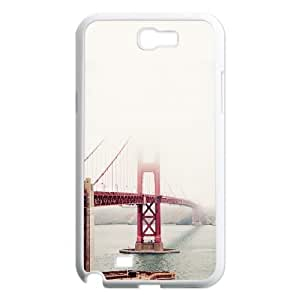 San Francisco Golden Gate Fog Mist Samsung Galaxy N2 7100 Cell Phone Case White DIY Present pjz003_6523553