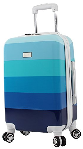 Nicole Miller Rainbow 20″ Hard-Sided Luggage Spinner (Blue)