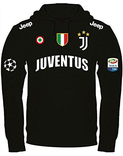 Cappuccio Juventus Print Felpa Nera amp; Personalizzata Design Con gZvZRF