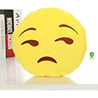 Doyime Soft Emoji Smiley Emoticon Yellow Round Cushion Pillow Stuffed Plush Toy Doll Big One