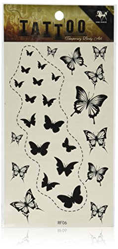 SPESTYLE waterproof non-toxic temporary tattoo stickersnew design black butterflies temporary temporary tattoos ()