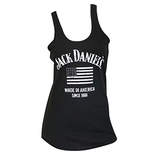 Jack Daniels Women's Daniel's Made in America Tank Top Black -