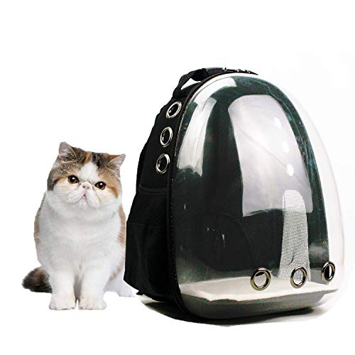 Lyn's Pet Carrier, Hard-Sided Pet Bag, Cat/Dog Bubble Backpack, Pet Travel Bag, Small Space Pet Capsule Knapsack, Waterproof Breathable Pet Carrier Airline Approved (2-13lbs)