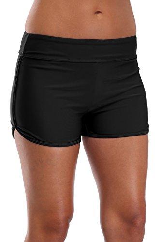 beautyin Solid Swim Shorts for Women Boyshort Swimming Bottoms Boardshorts L by beautyin (Image #5)