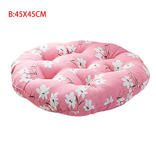 YunZyun Chair Cushion Round Soft Upholstery Premium Comfort Cushion Pad for Office Home Or Car Seat Cushion (B)