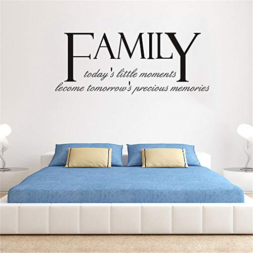 Wall Decal Removable Quote Decor Design Decal Family Today's Little Moments Become Tomorrow's Precious memeories for Bedroom Living Room ()