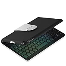 iPad Keyboard, JETech Wireless Bluetooth Keyboard Case for Apple iPad 2/3/4 with 360 Degree Rotation and Multi-Angel Stand - 2010