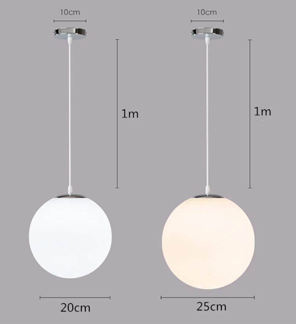 AUA Lustre boule en verre, Lampe suspension, Lampe intérieur simple pour  Chambre Salon Couloir Restaurant Café 1pcs (25CM)  Amazon.fr  Luminaires et  ... 6e8267ae5336