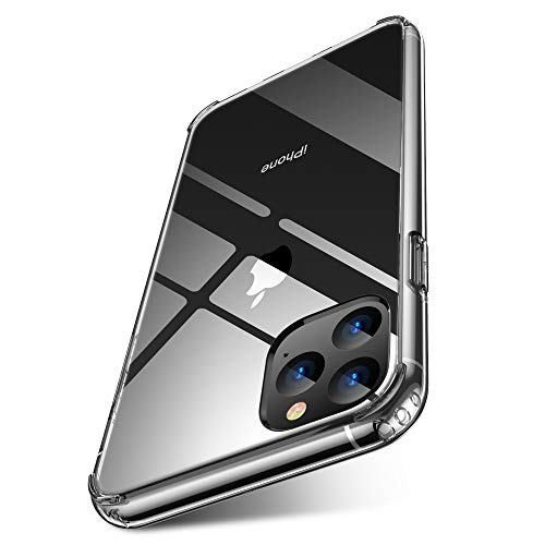 iPhone 11 Pro Case Clear 2019 5.8 inch FLOVEME PC TPU Ultra Hybrid Comfort grip Cell Phone Cases Compatible for Apple iPhone-11-Pro Case-Cover Basic Protective Accessories Support Wireless Charging