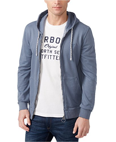Barbour Men's Bantham Zip Hoodie (XL, Washed Blue) by Barbour