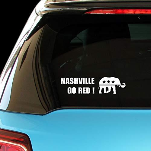 PressFans - Nashville GO RED Republican Party Politics Elections VoteCar Laptop Wall Sticker