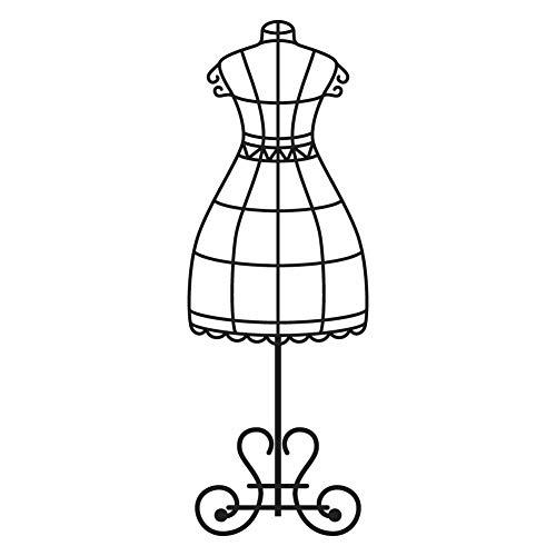 Vintage Dress Form Mannequin Black Vinyl Decal Sticker for 13