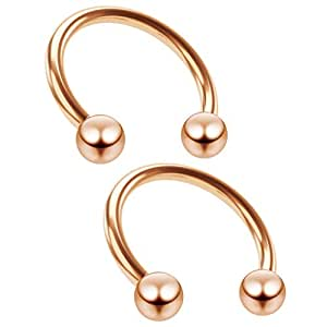 Amazon.com: Bling Unique 2pc 16g Rose Gold Circular