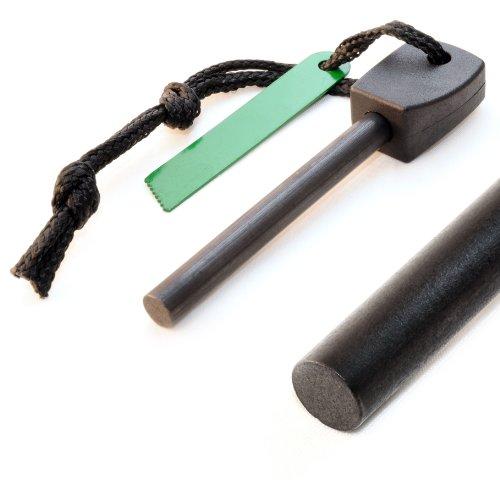 Ganzoo Feuerstahl/Feuerstein (Zündstein) aus Magnesium (72mm Länge) für Outdoor/Survival, Camping-Anzünder (Firesteel…