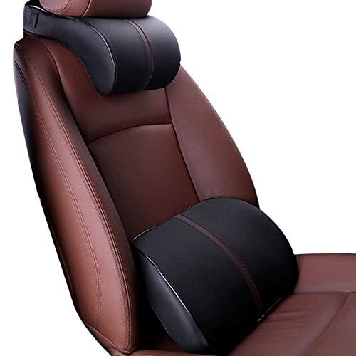 FKLOC Neck Pillow Leather Auto Car Neck Pillow Memory Foam Pillows Neck Rest Seat Headrest Cushion Pad