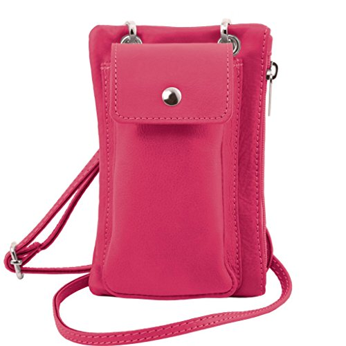 Leather Magenta Leather Tuscany Cross Blue Holder TLBag Mini Light Bag Cellphone Soft wST7q6