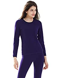 Women Winter Thick Warm Thermal Sets Health Care Knee Guard 2-layer Tops with Bottoms