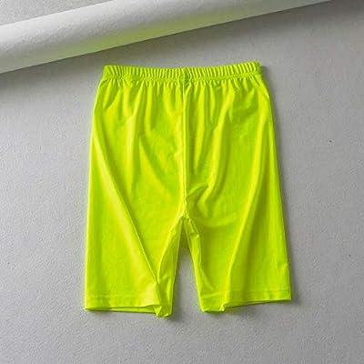 DKXLW Pantalones Cortos De Mujer,Verano Verde Neón Vintage ...