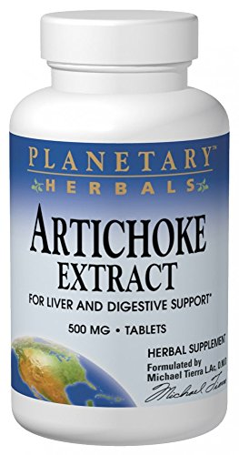Planetary Herbals Artichoke Extract Tablets, 500 mg, 120 Count