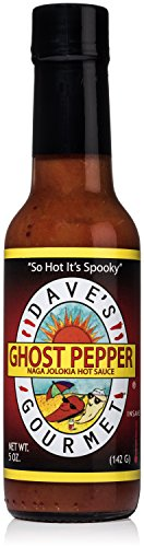 - Dave's Gourmet Ghost Pepper Jolokia Hot Sauce, Pack of 1