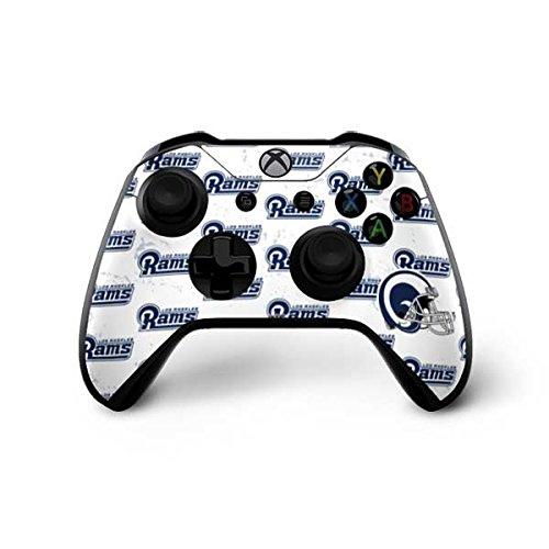 Skinit NFL Los Angeles Rams Xbox One X Controller Skin - Los Angeles Rams White Logo Blast Design - Ultra Thin, Lightweight Vinyl Decal Protection by Skinit