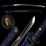 Shengsword Hand Forged Clay Tempered T10 Real Choji Hamon Handmade Japanese Samurai Katana Sword Razor Sharp F