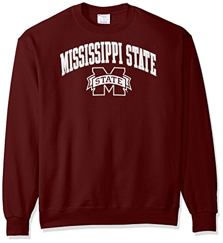 Ncaa Mississippi State Bulldogs Mens Power Blend Fleece Crew Neck Sweatshirt  Large  Maroon