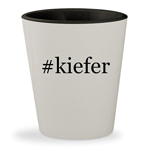 #kiefer - Hashtag White Outer & Black Inner Ceramic 1.5oz Shot - Kiefer Sutherland Glasses