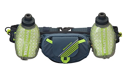 Hydration Belts For Runners - Nathan Trail Mix Plus Insulated Hydration Belt, Bluestone, One Size