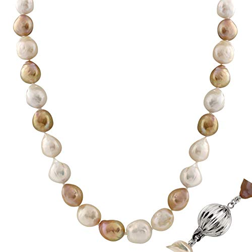 Handpicked AA Quality 10-13mm Multicolor Pastels Cream Caramel Freshwater Cultured Pearl Strand 18