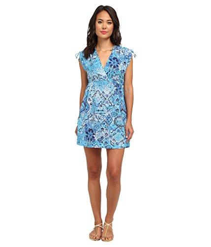 (Lauren by Ralph Lauren Women's Moroccan Tile Farrah Dress Cover Cobalt/Academy, LG (US 12-14))