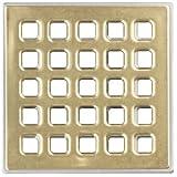 USG Durock Shower System- Pro Series Grate- 5'' Professional Grate Polished Gold