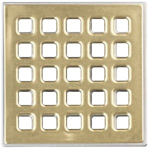 USG Durock Shower System- Pro Series Grate- 5'' Professional Grate Polished Gold