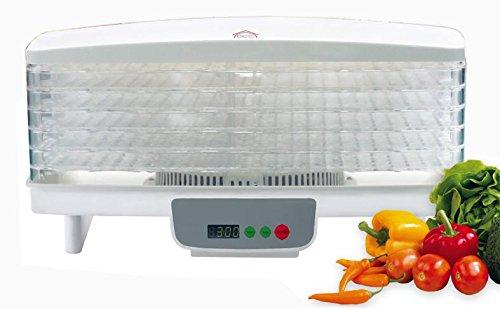 Essiccatore professionale per alimenti funghi erbe frutta, 550W DCG FD1077 [Classe di efficienza energetica B] Dcg eltronic