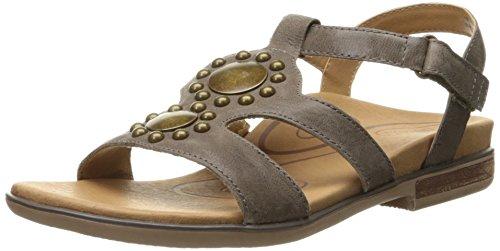 Aetrex Womens Vivian Gladiator Gladiator Sandal Stone
