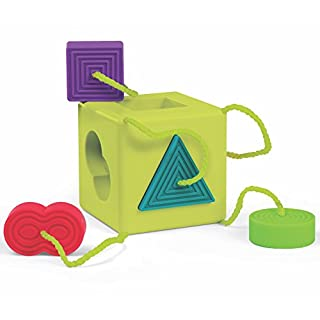 Fat Brain Oombee Cube Sorter, Tactile Toy for Toddlers
